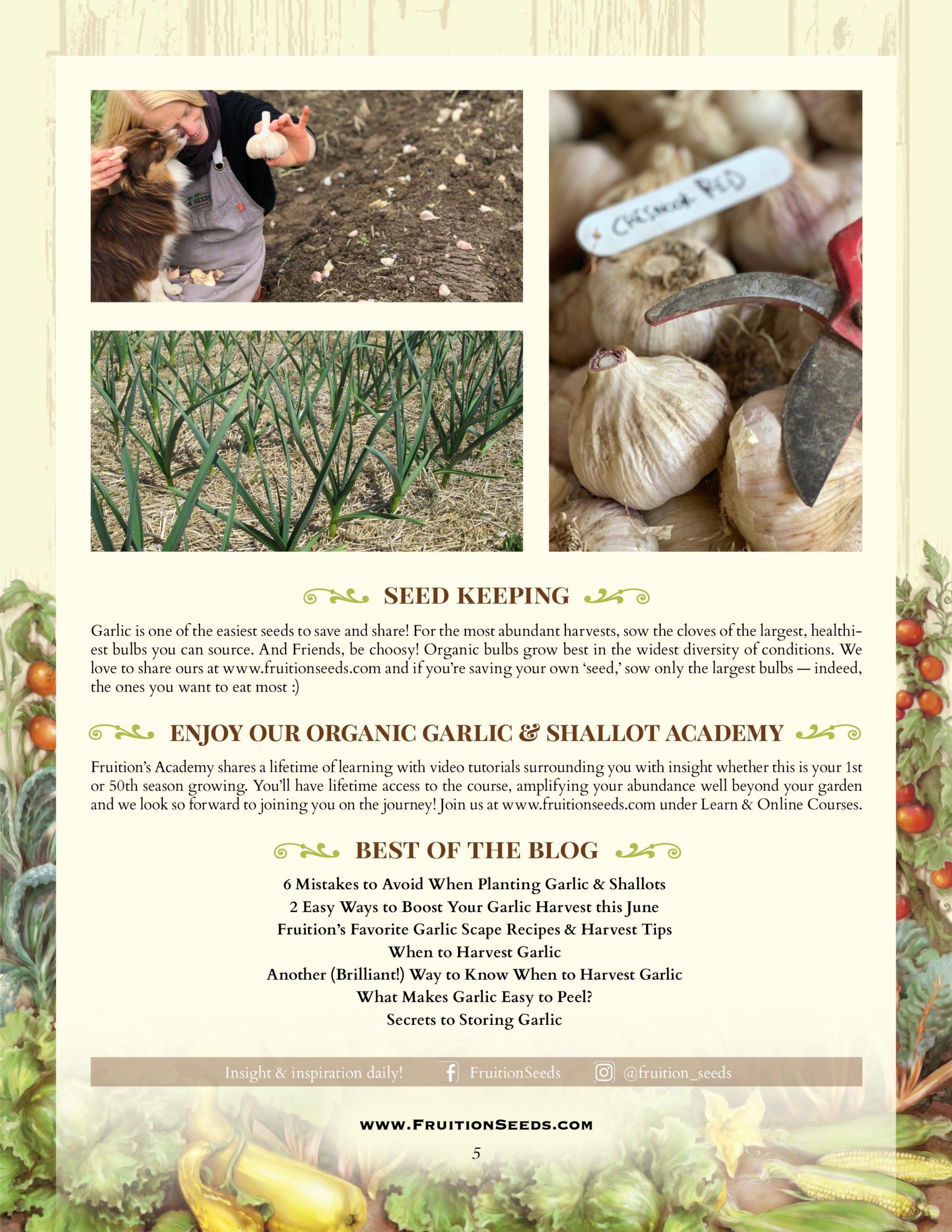 Growing Guide for Garlic Seedkeeping Guide