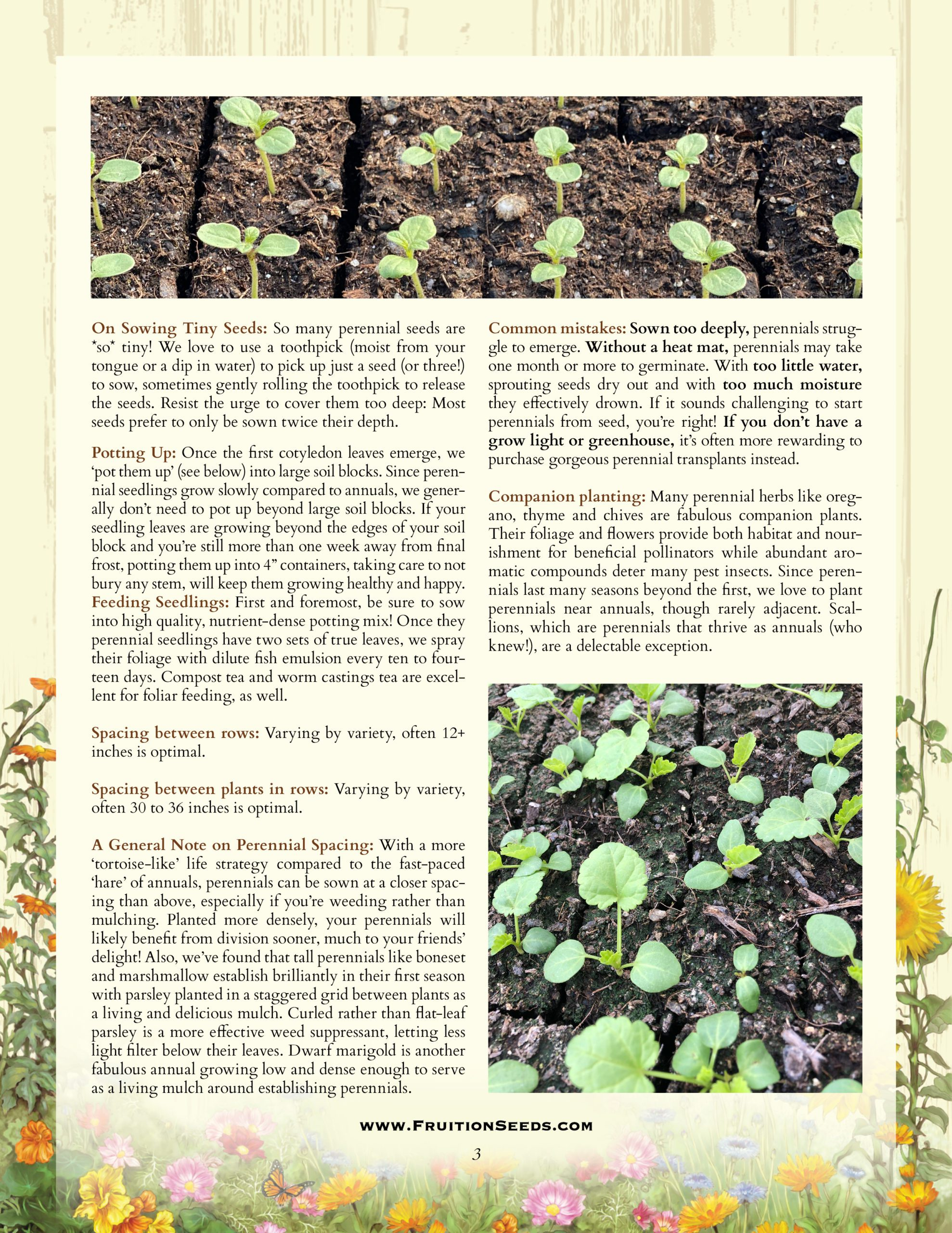 Growing Guide for Perennial Herbs and Flowers Growing Guide