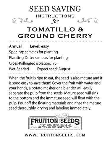 Thumbnail of Growing Guide for Tomatillo & Ground Cherry Seedkeeping Guide