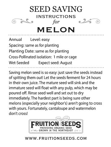 Thumbnail of Growing Guide for Melon Seedkeeping Guide
